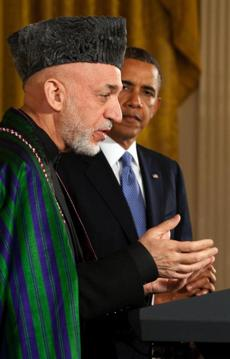 Afghan President Hamid Karzai and President Barack Obama.