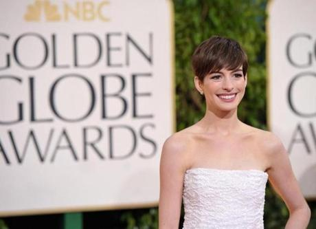 Anne Hathaway won for best supporting actress in