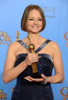 Jodie Foster posed with the Cecile B. DeMille Award for outstanding contribution to the entertainment field.
