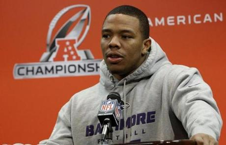 Ravens RB Ray Rice said a top priority for him Sunday will be avoiding Vince Wilfork, whom he called