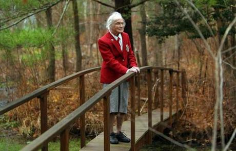 Eleanor Norris, 100 years old at her Norwell home in 2011.