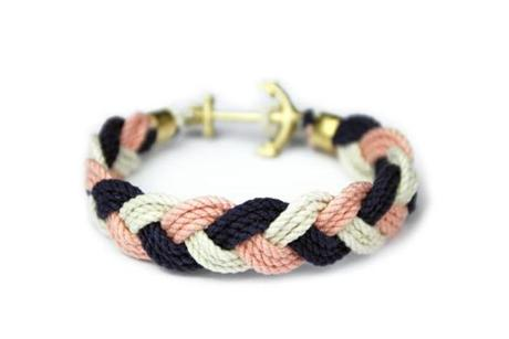 Turk's Head Knot rope bracelets by Kiel James Patrick, $40 at Flat of the Hill, 60 Charles Street, Boston, 617-619-9977, flatofthehill.com