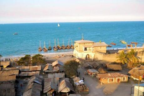 A fish market and former colonial slave market in Bagamoyo, Tanzania.
