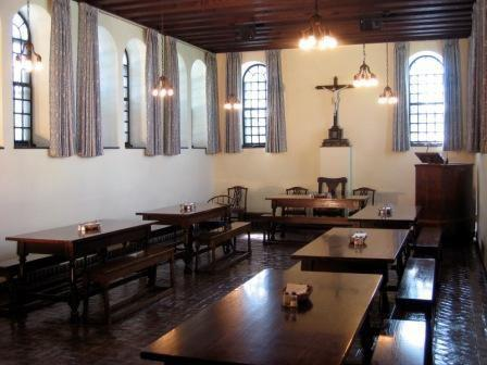 The monastery Refectory where brothers dine with guests