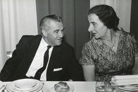 Dewey D. Stone with Golda Meir, taken in November 1958. Meir became prime minister of Israel in 1969.