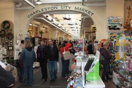 The Charleston City Market, established in 1807, reopened in 2011 after a $5.5 million makeover.