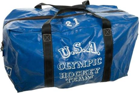 Equipment bag from 1980 Olympics.