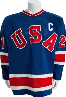 Jersey worn in the gold-medal victory over Finland.