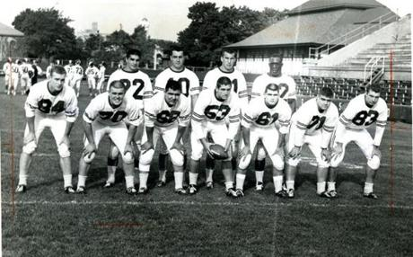 University of Massachusetts starting lineup, Sept 28, 1963.