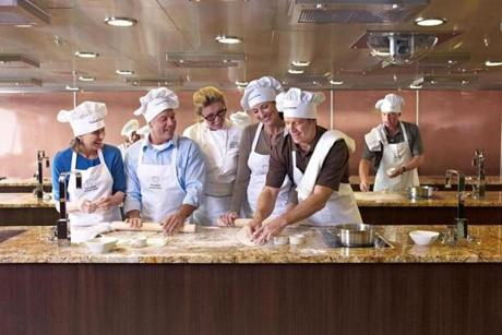 The agency Cruise Specialists offer Wine and Food Celebration voyages with cooking classes, wine seminars and fine dining on the ships of Oceania Cruises.