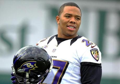 Ravens running back Ray Rice will be trying to run through the 49ers defense on Sunday.