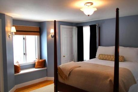 A spacious master suite was added in the 1960s. The room has great natural light and two closets, and a full bathroom.