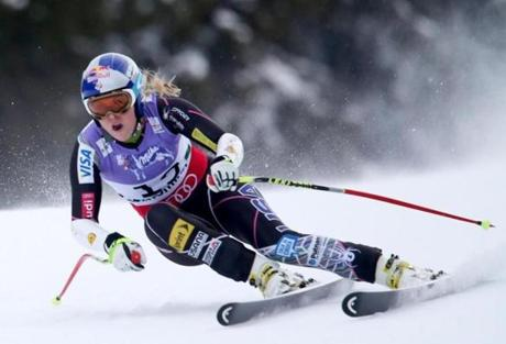 Shown earlier in the competition, Vonn is a superstar and former Olympic champion.