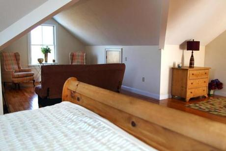 Quincy-01/09/13- Home of the week-12 Quentin Street. A third floor bedroom. Boston Globe staff photo by John Tlumacki (business)