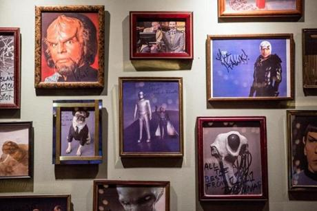 02/07/2013 SALEM, MA Portraits of science fiction characters at Flying Saucer Pizza Company (cq) in Salem. (Aram Boghosian for The Boston Globe)