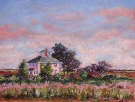 Paintings by Christine Molitor Johnson are on display at the Chococoa Baking Company in Newburyport through March.