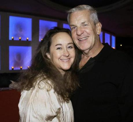 2-9-2013 Boston, Mass. Over 600 guests attended the 14 th Annual fundraiser for Big Brother and Big Sisters of Massachusetts, the event was held t the House of Blues. L. to R. are Jennifer Clarke and her husband Actor Lenny Clarke of West Tisbury. Globe photo by Bill Brett