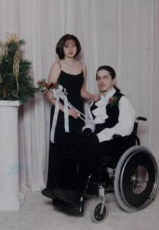 Southbridge, MA - 2/7/2013 - HAND OUT PHOTO. Melanie Fontaine (cq) and her boyfriend John Longiaru (cq) in a high school prom picture. Chris Fontaine visits her daughter and grandchildren in Southbridge, MA on Thursday, February 7, 2013. Fontaine lost her son in the Station Night Club fire. Her daughter survived. (Yoon S. Byun/Globe Staff) Slug: 17nightclub Reporter: moskowitz LOID: 5.1.511861434