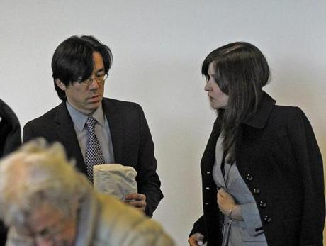 Allessandra Chinetti, who worked with victim Lauren Astley, said the defendan't mother, Beth Fujita (in court with husband, Tomo), appeared distraught during a June visit to the store where Astley worked.