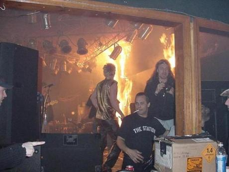 The fire quickly spread throughout the nightclub.