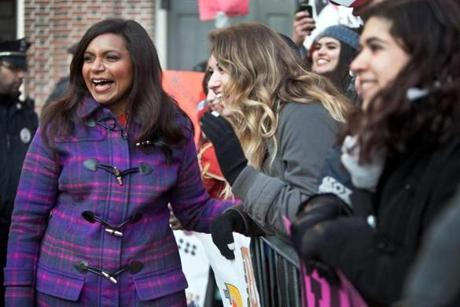 "Actress and ""Today"" guest Mindy Kaling greeted early-rising onlookers."