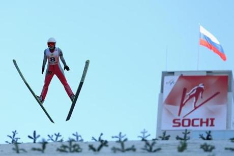 Sochi has already played host to international winter sporting events, such as this ski-jumping competition in December.