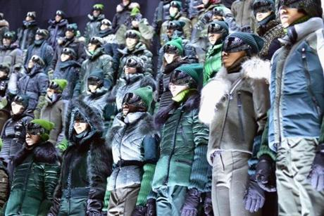 Moncler Grenoble put 370 models in winter jackets.