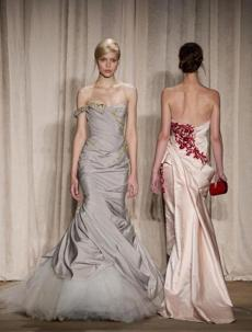 Marchesa showcased gowns.