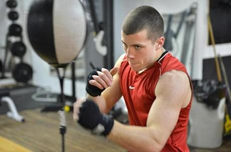 Joe Meuse of Millis, at Bancroft Boxing in Framingham, is one of the up-and-coming boxers who were on the undercard of Danny O'Connor's last bout at the TD Garden along withand Julio Perez of Marlborough and Tim Ramos of Framingham.