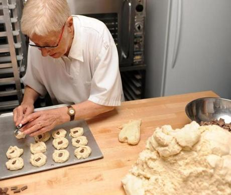 Mary MacLeod makes her signature shortbread cookies at Mary MacLeod's Shortbread in Toronto's East End.