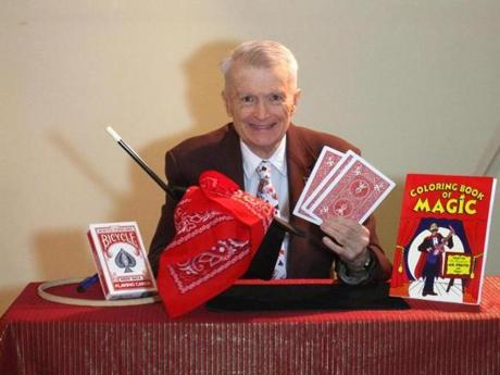 Gil Stubbs of Wellesley will lead a four-week magic course for seniors beginning April 4 at the Wellesley Community Center.