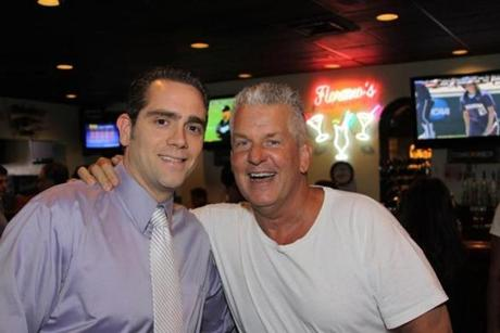 "Actor Richard Italiano Jr. (left) of Saugus is pictured with actor and comedian Lenny Clarke. The pair worked together on the 2008 movie ""What Doesn't Kill You."""