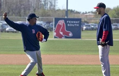 Martinez has jumped into his role as a tutor, working with young Red Sox pitchers such as Daniel Bard.