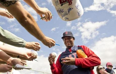 Pedro Martinez has once again become a fixture at Red Sox spring training, now in his role as a special adviser to the team.