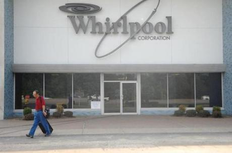 Whirlpool officials said the tax breaks help the company retain jobs, but in recent years, it has closed refrigerator manufacturing plants in Indiana (above) and Arkansas.