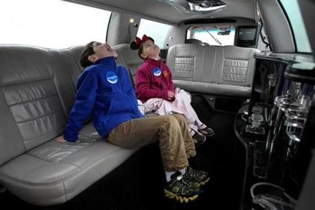 The Make-A-Wish Foundation sent a limousine to the Cronk house to take them, including brother Connor, to the airport to go to Disney.