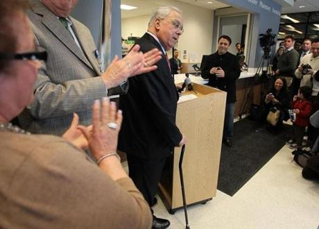 Boston Mayor Thomas M. Menino spoke at the opening of the Market Cafe inside the East Boston Neighborhood Health Center: