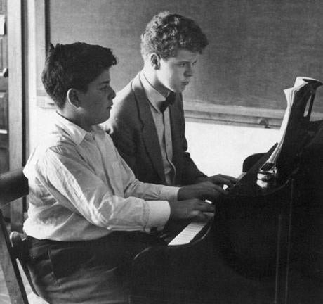 Two proteges: Mr. Cliburn and James Levine, at the music festival in Marlboro, Vt. Levine became a famed conductor.
