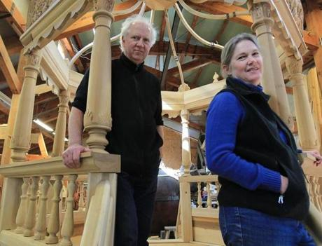 Artist Rick and Laura Brown at their studio in Hanover.