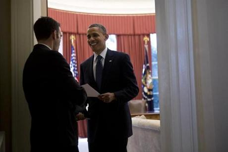 Barack Obama hired Jon Favreau about a year after meeting him at the 2004 Democratic National Convention.