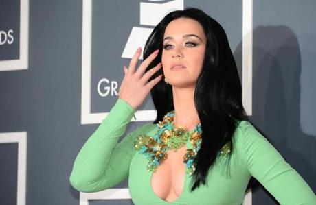 Katy Perry on the red carpet for the 55th Grammy Awards.