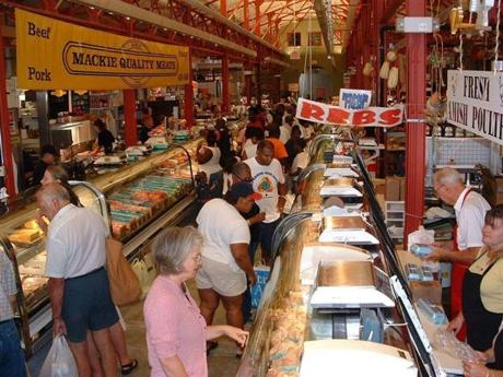 Findlay Market's endless butcher counters, many filled with sausages, speak to Cincinnati's German heritage.