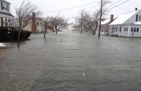 Severe flooding was seen in Scituate.