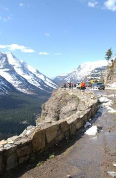 A breathtaking view on the road less than 4 miles from Logan Pass.