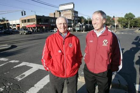 Late in his career, Parker matched wits against BC coach Jerry York. The pair, whose schools shared opposite of Commonwealth Ave, competed often for the same pool of potential players.