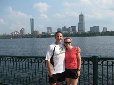 Runners went sightseeing on a RunBoston tour along the Charles River.