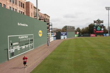 Fluor Field, home to the Greenville Drive, replicates Fenway Park.