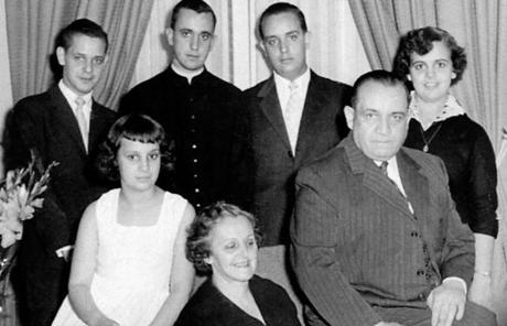 Jorge Bergoglio, second from left back row, is seen with his family in an undated photo.
