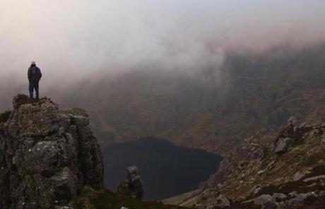 Piaras Kelly of Kerry Climbing took in the view of Courmshingaun Lake in the Comeragh Mountains.