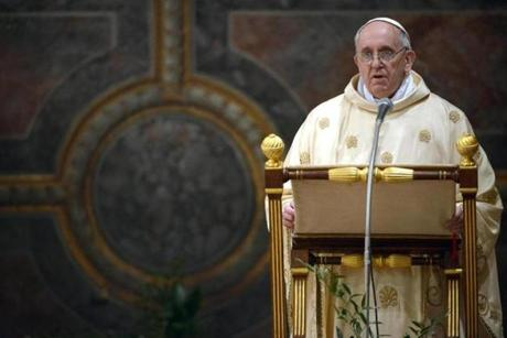 In his first Mass as pope, Francis urged Catholics to build the faith on strong foundations.